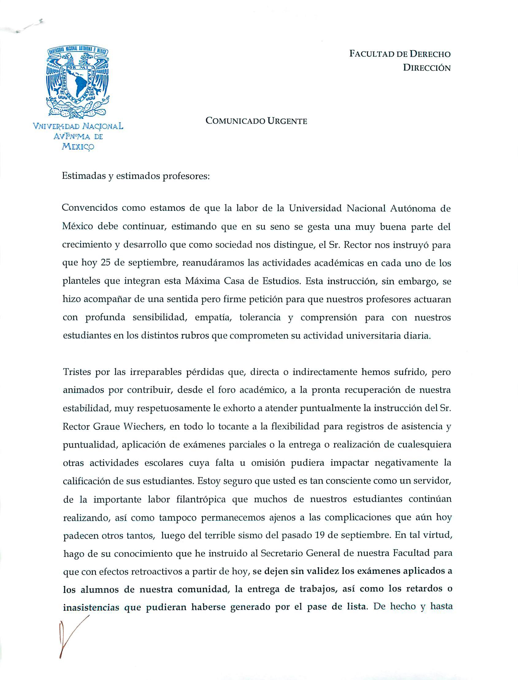 Facultad de Derecho - UNAM